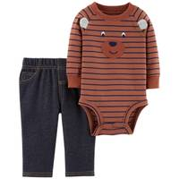 Carter's Infant Boys' Brown Bear Faux Denim Set from Blain's Farm and Fleet