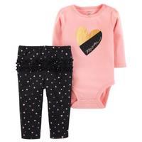 Carter's Infant Girls' Pink Heart Mom Set from Blain's Farm and Fleet