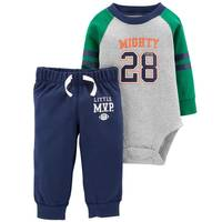Carter's Infant Boys' Heather & Navy Might Cute Set from Blain's Farm and Fleet
