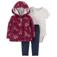 Carter's Infant Girls' Floral Burgundy Cardigan Set from Blain's Farm and Fleet