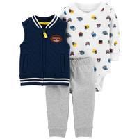 Carter's Infant Boys' Navy 3-Piece Football Vest Set from Blain's Farm and Fleet
