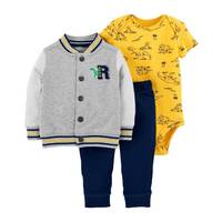 Carter's Infant Boys' Heather 3-Piece Cardigan Roar Set from Blain's Farm and Fleet