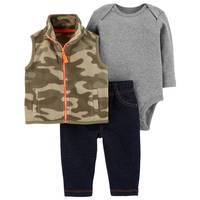 Carter's Infant Boys' Green & Camouflage 3-Piece Vest Set from Blain's Farm and Fleet