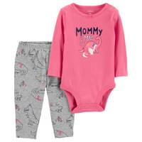 Carter's Infant GIrls' Pink Mommy & Me Dinosaur Set from Blain's Farm and Fleet