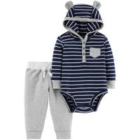 Carter's Infant Boys' Navy Stripe Hoodie Set from Blain's Farm and Fleet