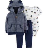 Carter's Infant Boys' Navy 3-Piece Cardigan Stripe Set from Blain's Farm and Fleet