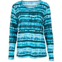 CG I CG Women's Long Sleeve Teresita Crew Tie Dye Teal from Blain's Farm and Fleet