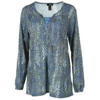 Erika Women's Lenora Rayon Burnout Starry Night from Blain's Farm and Fleet