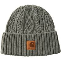 Carhartt Boys' Charcoal Plated Fisherman's Knit Winter Hat from Blain's Farm and Fleet