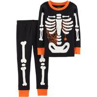 Carter's Toddler Boys' Halloween Skeleton 2-Piece Pajamas Black from Blain's Farm and Fleet