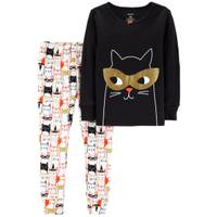 Carter's Infant Girls' Halloween Cat 2-Piece Pajamas Black from Blain's Farm and Fleet