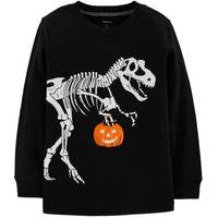Carter's Toddler Boys' Halloween Dino Tee Black from Blain's Farm and Fleet