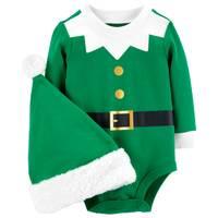 Carter's Unisex Christmas Bodysuit Elf Hat Green from Blain's Farm and Fleet