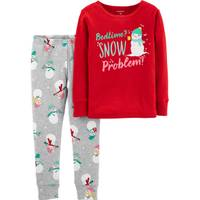 Carter's Infant Girls' Christmas Snowman 2-Piece Pajamas Red from Blain's Farm and Fleet