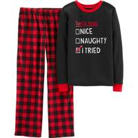 Carter's Big Boys' Christmas 2-Piece Check Pajamas Red & Black from Blain's Farm and Fleet