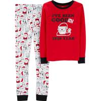 Carter's Big Boys' Christmas 2-Piece Pajamas Santa Red from Blain's Farm and Fleet