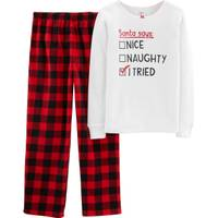 Carter's Big Girls' Christmas Santa Says Pajamas Red & Black from Blain's Farm and Fleet