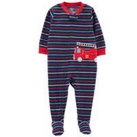Carter's Toddler Boys' 1-Piece Fleece Firetruck Pajamas Blue from Blain's Farm and Fleet