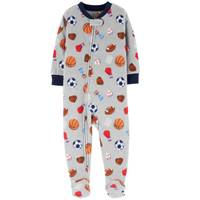 Carter's Infant Boys' 1-Piece Fleece Sport Pajamas Grey from Blain's Farm and Fleet