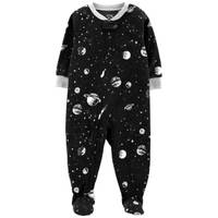 Carter's Infant Boys' 1-Piece Fleece Outer Space Pajamas Black from Blain's Farm and Fleet