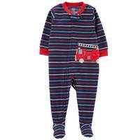 Carter's Infant Boys' 1-Piece Fleece Firetruck Pajamas Blue from Blain's Farm and Fleet