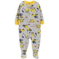 Carter's Toddler Boys' 1-Piece Fleece Construction Pajamas Grey from Blain's Farm and Fleet