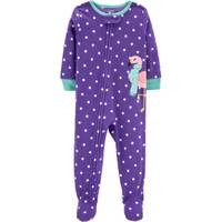 Carter's Infant Girls' 1-Piece Fleece Dots Pajamas Purple from Blain's Farm and Fleet