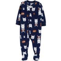 Carter's Toddler Boys' 1-Piece Fleece Dog Pajamas Navy from Blain's Farm and Fleet