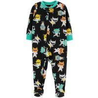 Carter's Toddler Boys' 1-Piece Fleece Karate Monster Pajamas Black from Blain's Farm and Fleet