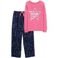 Carter's Big Girls' 2-Piece Fleece Constellation Pajamas Pink from Blain's Farm and Fleet