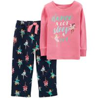 Carter's Toddler Girls' 2-Piece Fleece Fairy Pajamas Navy & Pink from Blain's Farm and Fleet