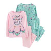 Carter's Toddler Girls' 4-Piece Cotton Ballerina Pajamas Turquoise from Blain's Farm and Fleet