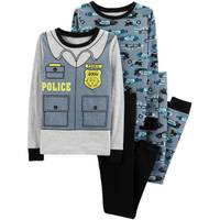 Carter's Big Boys' 4-Piece Cotton Police Car Pajamas Grey from Blain's Farm and Fleet