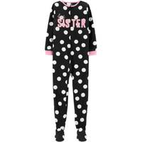 Carter's Big Girls' 1-Piece Fleece Best Sister Pajamas Black & White from Blain's Farm and Fleet