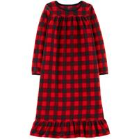 Carter's Big Girls' Fleece Gown Check Pajamas Red & Black from Blain's Farm and Fleet