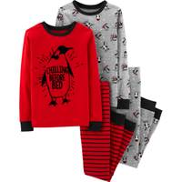Carter's Big Boys' 4-Piece Cotton Skiing Penguin Pajamas Red from Blain's Farm and Fleet