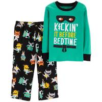 Carter's Toddler Boys' 2-Piece Fleece Karate Monster Pajamas Black from Blain's Farm and Fleet