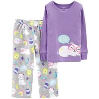 Carter's Toddler Girls' 2-Piece Fleece Pug Pajamas Purple from Blain's Farm and Fleet