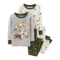 Carter's Toddler Boys' 4-Piece Cotton Woodland Pajamas Camouflage from Blain's Farm and Fleet