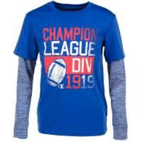 Champion Big Boys' Long Sleeve League Div 1919 Tee Blue from Blain's Farm and Fleet
