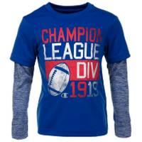 Champion Little Boys' Long Sleeve League Div 1919 Tee Blue from Blain's Farm and Fleet