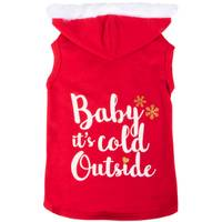 Mission Pets Red Baby Its Cold Outside Hoodie from Blain's Farm and Fleet