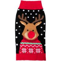 Mission Pets Black Reindeer Sweater from Blain's Farm and Fleet