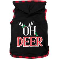Mission Pets Black Oh Deer Holly Hoodie from Blain's Farm and Fleet