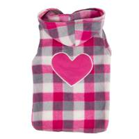 Mission Pets Berry Plaid Heart Jacket from Blain's Farm and Fleet