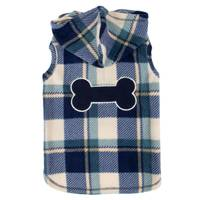 Mission Pets Navy Plaid Bone Jacket from Blain's Farm and Fleet