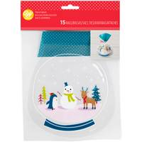 Wilton 15-Count Snowman & Friends Shaped Treat Bag from Blain's Farm and Fleet