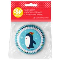 Wilton 75-Count Snowman Penquin Baking Cup from Blain's Farm and Fleet