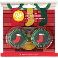 Wilton 100-Count Mini Stocking Mantel Baking Cups from Blain's Farm and Fleet