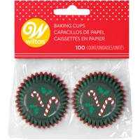 Wilton 100-Count Mini Candy Cane Baking Cups from Blain's Farm and Fleet